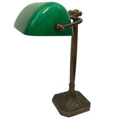 Art Nouveau Desk Banker's Lamp