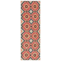 Flat-Woven Vintage Swedish Kilim