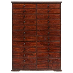Mahogany Estate Chest of Drawers, England, circa 1840