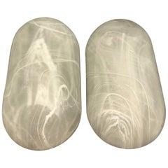 Pair of Peill & Putzler Modernist Glass Sconces, Germany