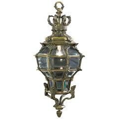 20th Century Baroque Style Brass Lantern