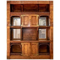 Carved Wood Craftsman's Bar Back