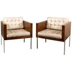 Original Condition Pair of Harvey Probber Cube Chairs