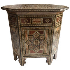 Wonderful Moroccan Side Table with Storage