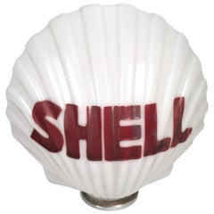 Shell Oil Company Milk Glass Gas Pump Globe