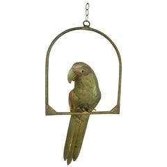 Brass Parrot Figure