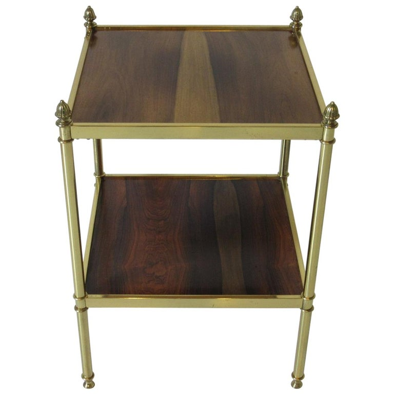 Baker Brass and Rosewood Side Table