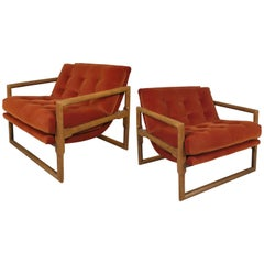Pair of 1960s Lounge Chairs by Milo Baughman