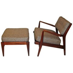 Jens Risom Chair and Ottoman