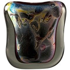 Multi-Color Heavy Murano Glass Sommerso Vase