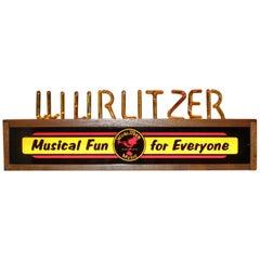 Wurlitzer Music Bubbling Advertising Light