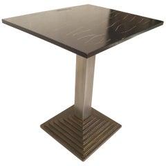 Black Top Metal Table