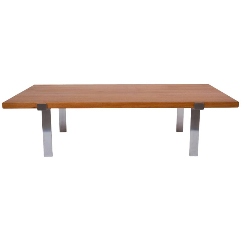 Illum Wikkelso Teak and Steel Coffee Table