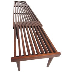 Mid-Century Modern Expandable Slat Bench