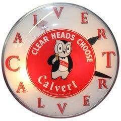 1940s Calvert Distillery Bubble Clock