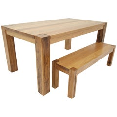 Modern Farm Dining Table by Goebel, Wood
