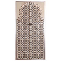 Traditional Indian Double / Split Door with Elaborate Bone Inlay