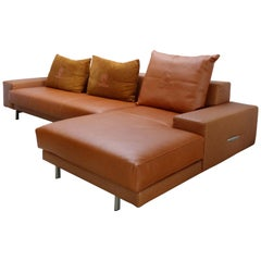 Casa Tonino Lamborghini Pilot Collection Sofa in Leather, Ostrich and Suede