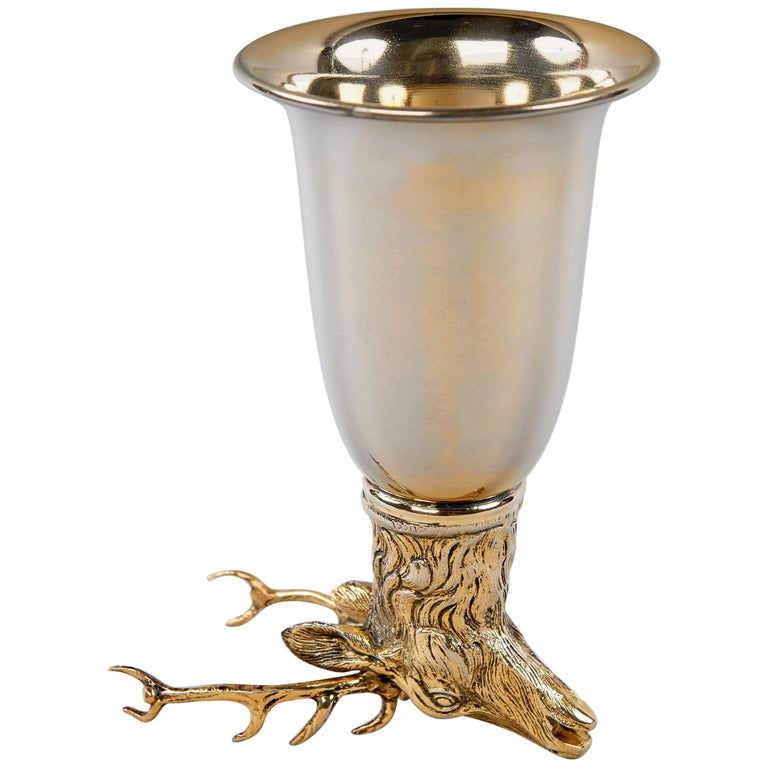 """Stag"" Stirrup Cup by Gucci For Sale"