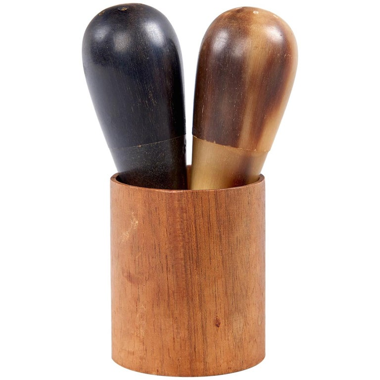 Salt and Pepper Shakers by Carl Auböck For Sale