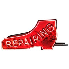Shoe REPAIRING Single Sided Neon Cobbler Sign