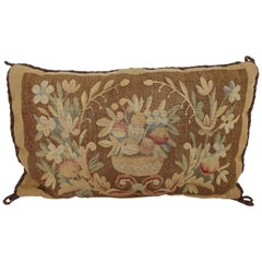 19th Century Tapestry Fragment Pillow