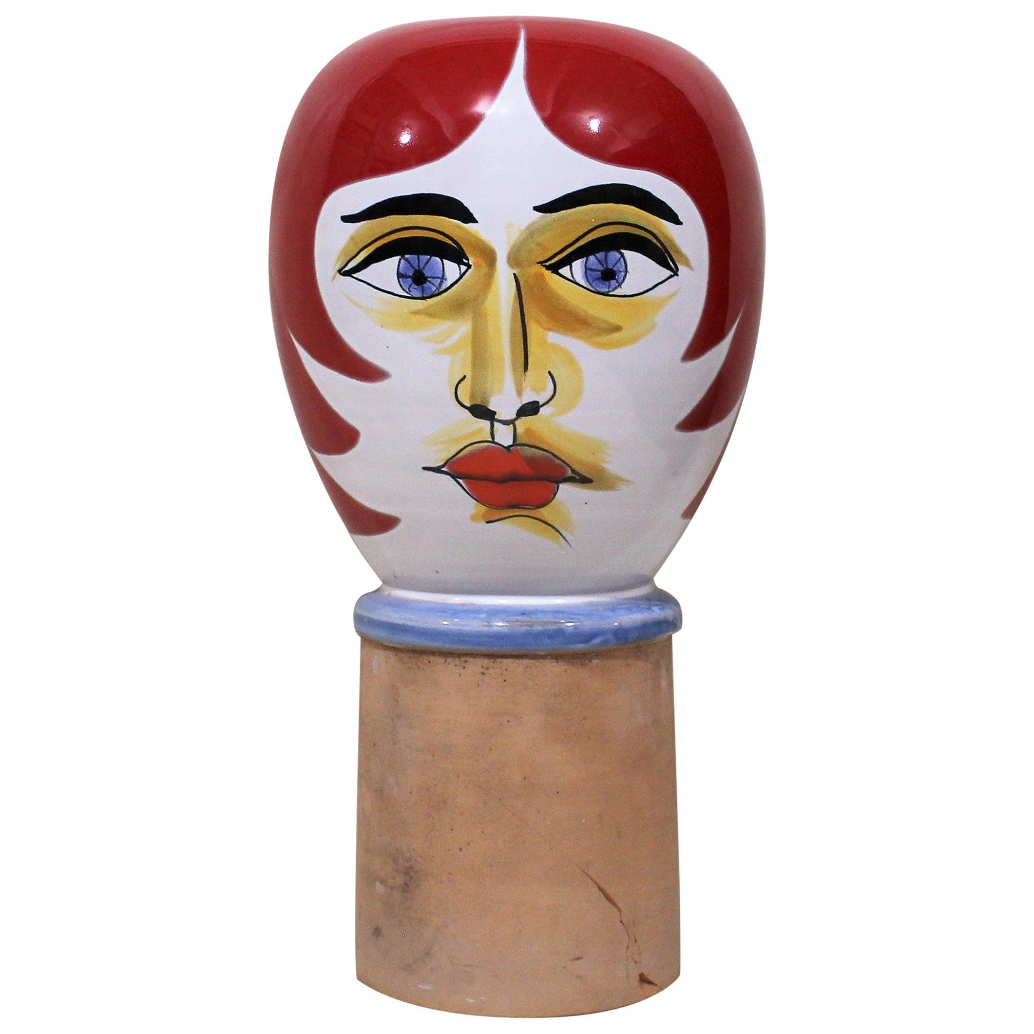 Mid-Century Modern Life-Size Ceramic Bust