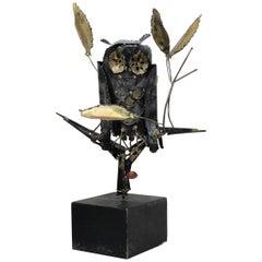 Mid-Century Modern Degroot Owl Sculpture