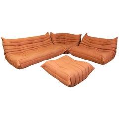 Michel Ducaroy Design for Ligne Roset of France Four-Piece Togo Sofa Set