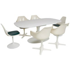 Saarinen Style Tulip Dining Set by Burke