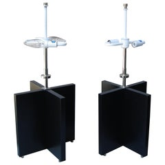 """Very Rare Pair of Nessen """"X"""" Table Lamps"""