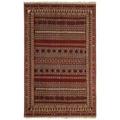 Antique Persian Rugs, Afshar Carpet Sirjan, Striped Kilim Rug