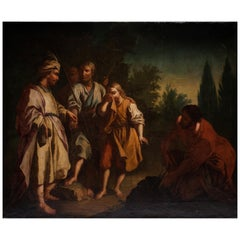 18th Century Bible Scene Painting Joseph 'Genesis'
