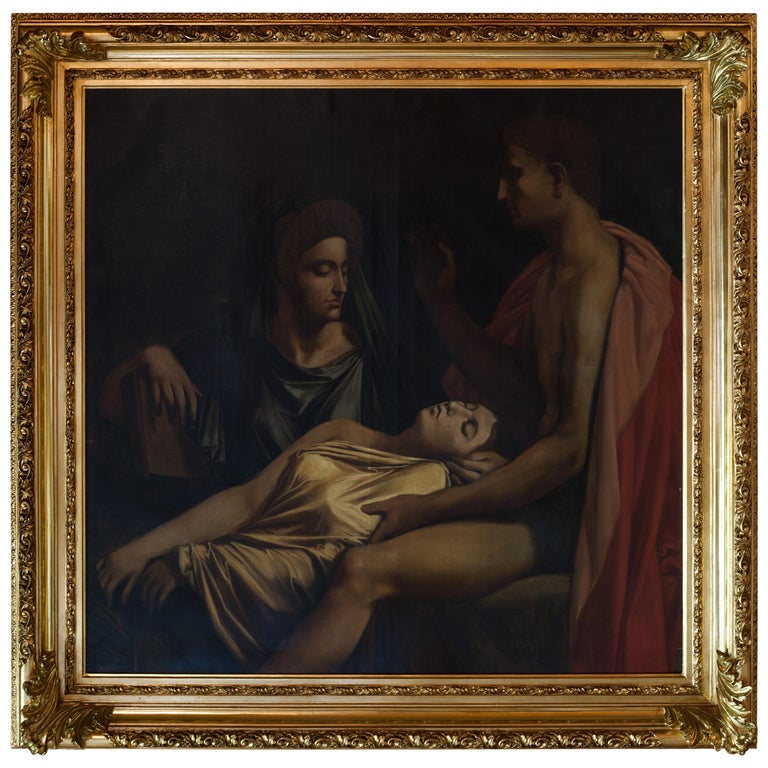 Large Mythological Oil Painting, 18th Century For Sale