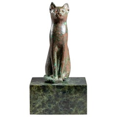 Bronze Bastet Figurine, Egypt, Late Period '664–332 BCE'
