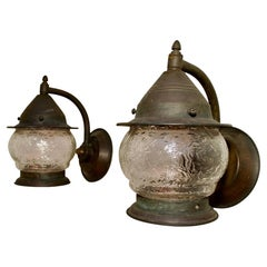 Pair of 1930s Copper Outdoor Sconces