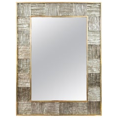 Venetian Brass Wave Mirror