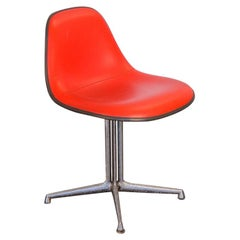 Red La Fonda Padded Eames Chair for Herman Miller