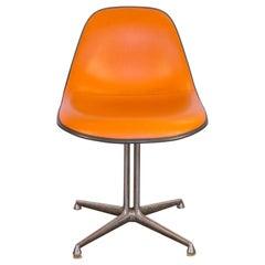Orange Padded La Fonda Eames Chair for Herman Miller