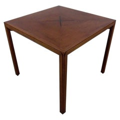 Walnut Game Table with Inlay by Edward Wormley for Dunbar