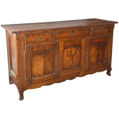 Antique Rustic Louis XV Style French Provincial Sideboard