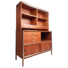 Two-Piece Midcentury Credenza by Paul McCobb