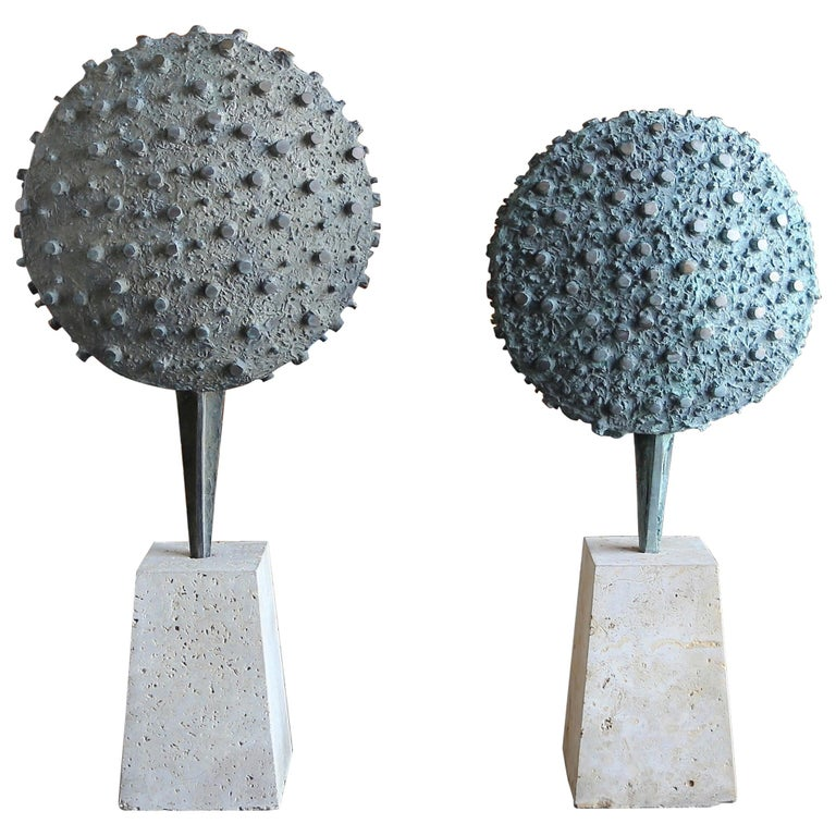 Set of Patinated Cast Bronze Sculptures