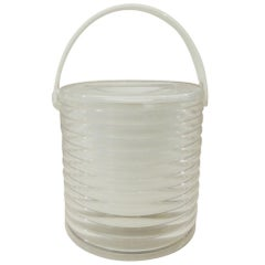 Vintage 1980s Clear Lucite Ice Bucket