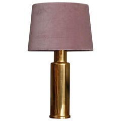 Swedish Glass Table Lamp by Luxus, 1960s