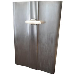 Headboard for Twin Single Bed, Industrial Wall Art: Deco Carrier Portal w/Light