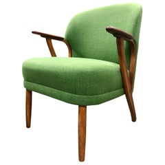 Mid-Century Modern Upholstered Armchair