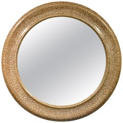 Huge Syrian Style Blondewood and Mother-of-Pearl Inlay Mirror