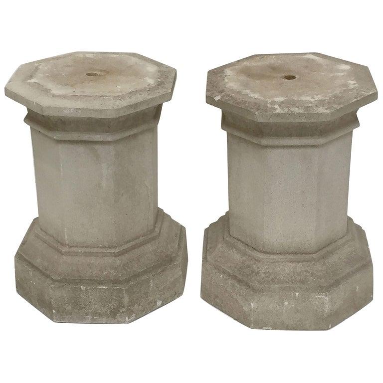 English Garden Stone Octagonal Column or Pedestal Plinths 'Individually Priced'