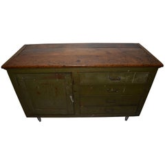 Primitive Counter, Pine Cupboard, Kitchen Island with Four Drawers and Storage